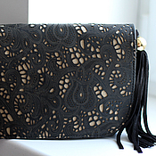 Сумки и аксессуары handmade. Livemaster - original item Black lace clutch bag Ref. 175. Handmade.
