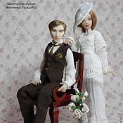Куклы и игрушки handmade. Livemaster - original item Christopher and Sylvia (12,5/13,5 cm). Handmade.