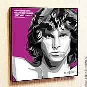 Картины и панно handmade. Livemaster - original item Painting poster Pop Art Jim Morrison. Handmade.