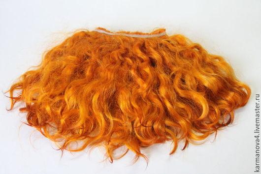 Тресс для кукольных волос из козочки ангорской породы ручного производства Волосы для кукол (лесной орех, натуральные, мытые) Локоны Кудри для кукол Волосы для кукол купить Handmade Ярмарка Мастеров