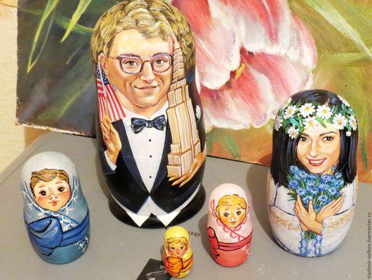 Подарки на свадьбу ручной работы. Ярмарка Мастеров - ручная работа. Купить Портретная матрешка на свадьбу, оригинальный свадебный подарок. Handmade.