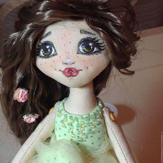 Коллекционные куклы ручной работы. Ярмарка Мастеров - ручная работа. Купить Кукла текстильная Балерина. Handmade. Салатовый, кукла в подарок