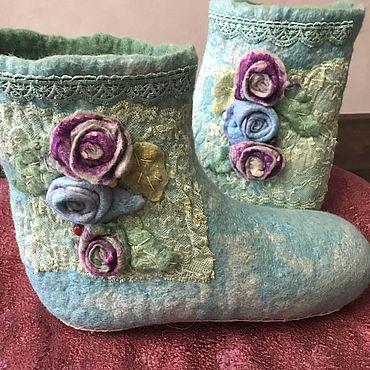 Обувь ручной работы. Ярмарка Мастеров - ручная работа Угги: домашние валяные. Handmade.