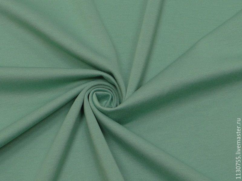 Ткань трикотаж джерси мята  270г/кв.м, Ткани, Москва,  Фото №1