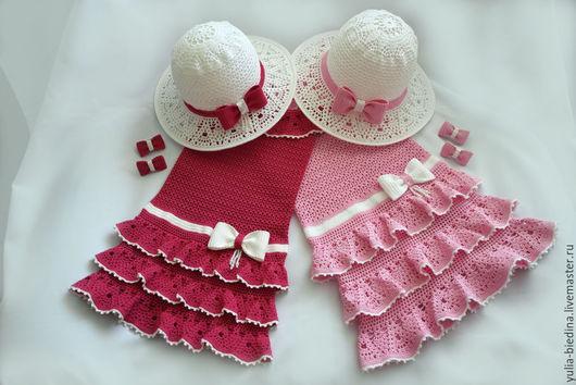 """Одежда для девочек, ручной работы. Ярмарка Мастеров - ручная работа. Купить Нарядный комплект для девочки """"Лето в рюшах"""". Handmade."""
