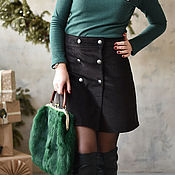 Одежда handmade. Livemaster - original item A-line skirt corduroy brown. Handmade.