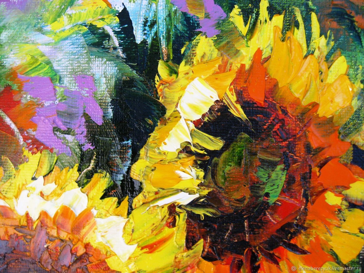 Sunflowers oil painting on canvas sunflowers Flower wall art