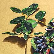 Картины и панно ручной работы. Ярмарка Мастеров - ручная работа Картина пастелью Жимолость. Handmade.