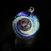 Украшения handmade. Livemaster - original item Pendant ball Distant planet Universe Galaxy Jewelry Space Marble. Handmade.