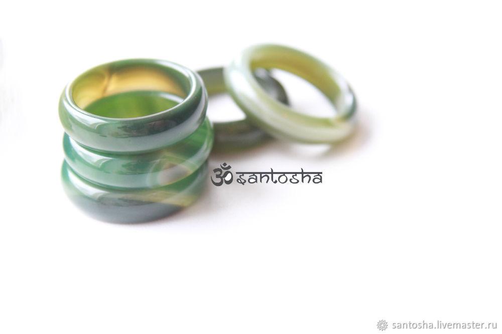 Кольцо из агата зеленого (KGS0002), Минералы, Москва, Фото №1