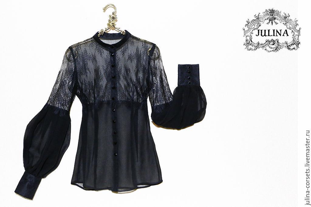 Блузка с кружевом купить доставка