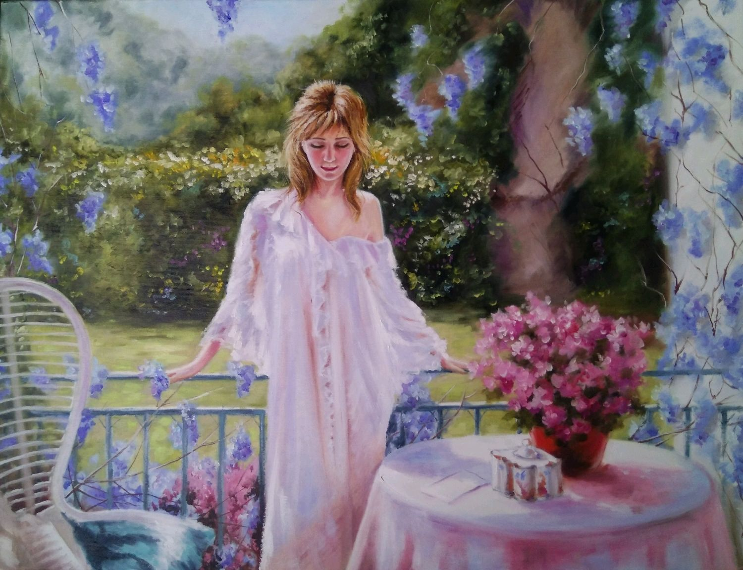 Oil painting with a girl Summer heat, Pictures, Zhitomir,  Фото №1