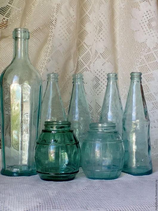 Винтажная посуда. Ярмарка Мастеров - ручная работа. Купить Набор старинных кухонных бутылочек.. Handmade. Комбинированный, винтажная посуда