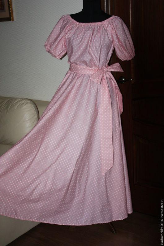 """Платья ручной работы. Ярмарка Мастеров - ручная работа. Купить Платье """"Зефирка"""". Handmade. Розовый, платье в подарок, платье в пол"""