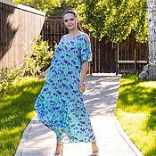 Одежда handmade. Livemaster - original item Dress made of viscose turquoise. Handmade.