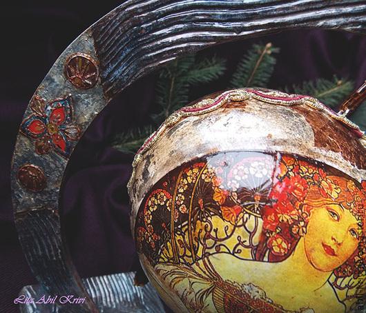 Новый год 2017 ручной работы. Ярмарка Мастеров - ручная работа. Купить Интерьерный  шар. Handmade. Новый Год, интерьер, эмаль