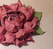 """Цветы и флористика ручной работы. Ярмарка Мастеров - ручная работа Цветок из кожи . Роза"""" Нежность"""". Handmade."""