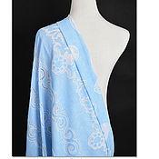 Материалы для творчества handmade. Livemaster - original item 100% linen, lace, Blue nature. Handmade.