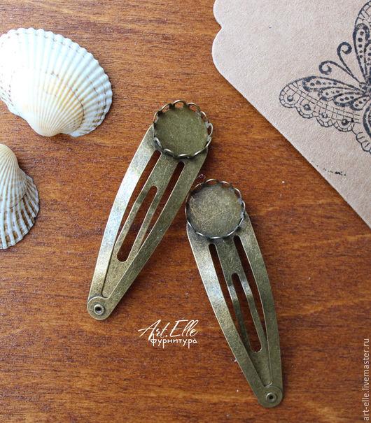 Для украшений ручной работы. Ярмарка Мастеров - ручная работа. Купить Основа для заколки с платформой, металл, цвет бронза антик. Handmade.