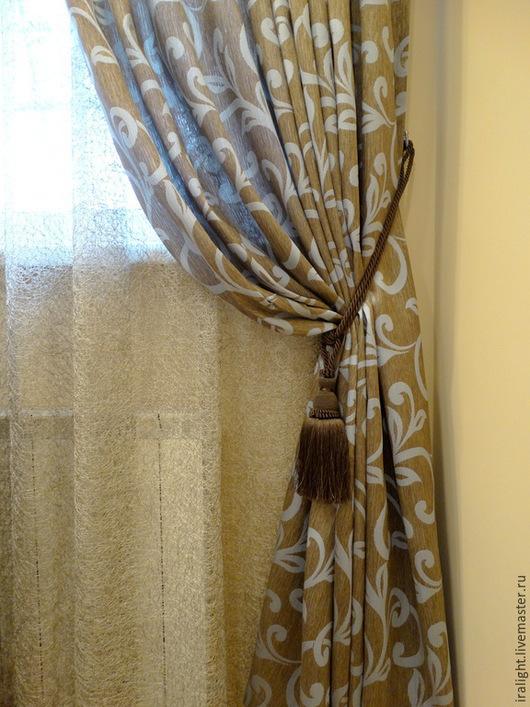 Текстиль, ковры ручной работы. Ярмарка Мастеров - ручная работа. Купить Шторы Голубой Вензель. Handmade. Шторы в спальню, плед