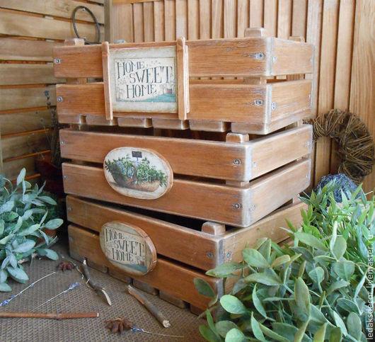 Набор ящиков для хранения овощей,фруктов,зелени...Сибирский кедр. Сделано на заказ. `LedaksDecor`.