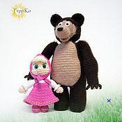 Куклы и игрушки ручной работы. Ярмарка Мастеров - ручная работа Маша и Медведь. Handmade.