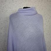 """Одежда ручной работы. Ярмарка Мастеров - ручная работа Кофта-квадрат асимметричная """"Сиреневая"""" из полушерсти. Handmade."""
