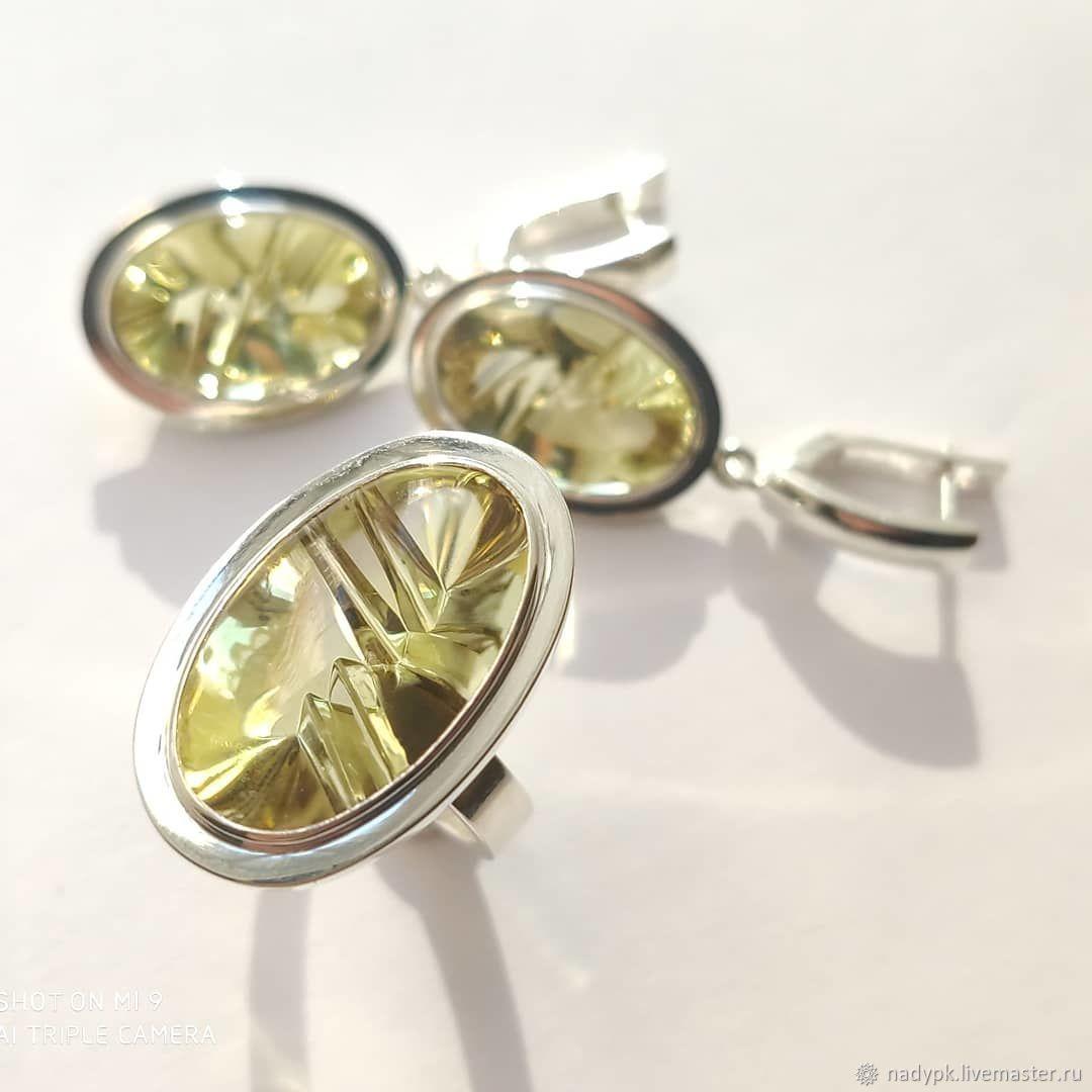 Jewelry set 'Sun', citrine, silver, Jewelry Sets, Moscow,  Фото №1