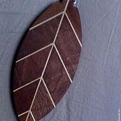 """Для дома и интерьера ручной работы. Ярмарка Мастеров - ручная работа разделочная доска """"Фиговый листок"""". Handmade."""