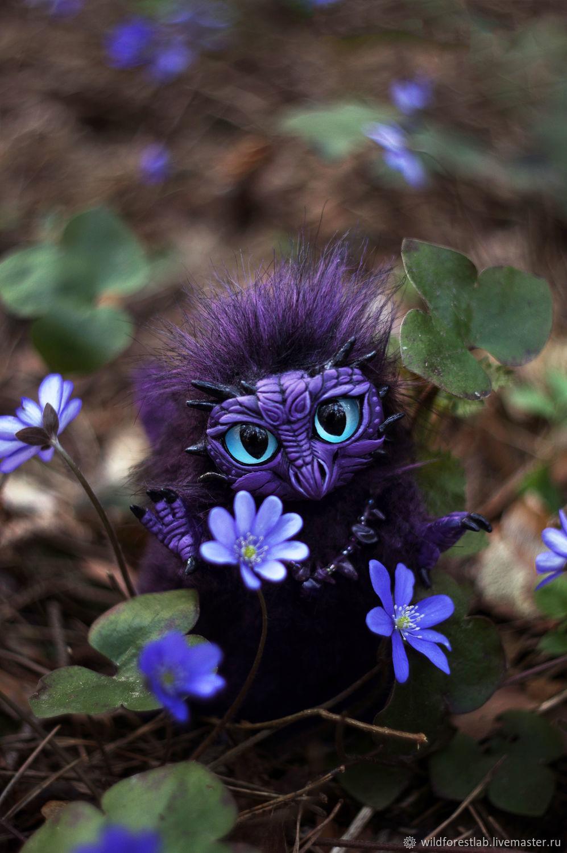 Фиолетовый  Дракончик пухлик, Мягкие игрушки, Тверь,  Фото №1