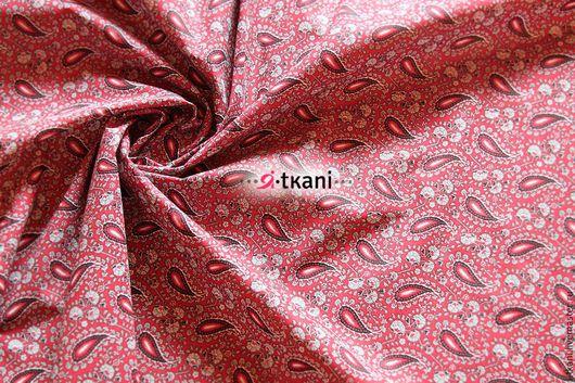 HLI 00-005 Бязь `Пэйсли`. Цвет бордовый.   100% хлопок. Плотность 125г/м. Россия.
