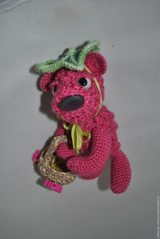 Куклы и игрушки ручной работы. Ярмарка Мастеров - ручная работа. Купить Мишка-малишка. Handmade. Малиновый цвет, авторская игрушка