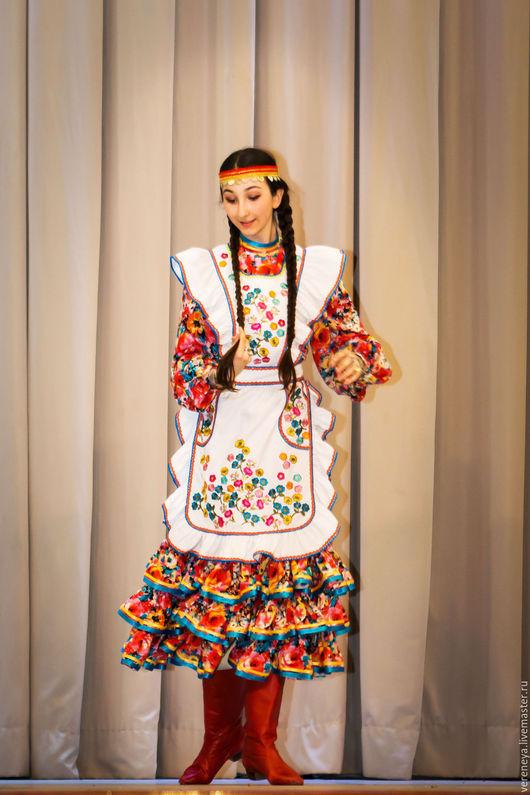 Танцевальные костюмы ручной работы. Ярмарка Мастеров - ручная работа. Купить Башкирский танец. Handmade. Комбинированный, танцевальный костюм, национальный