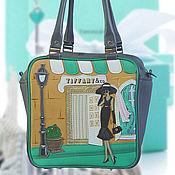 """Сумки и аксессуары ручной работы. Ярмарка Мастеров - ручная работа Кожаная сумка """"Tiffany gray"""". Handmade."""