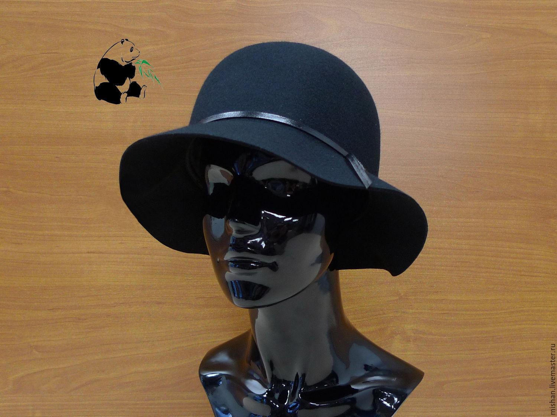 Stylish women's hat made of felt with a soft brim. Six colors, Hats1, Ekaterinburg,  Фото №1