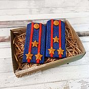 Косметика ручной работы handmade. Livemaster - original item Shoulder Straps Soap Set Gift Army Star Military Blue. Handmade.