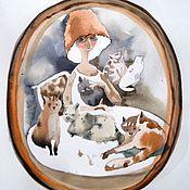 Картины и панно ручной работы. Ярмарка Мастеров - ручная работа Семейный портрет   акварель.. Handmade.