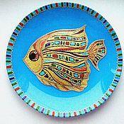 """Посуда ручной работы. Ярмарка Мастеров - ручная работа Тарелка """"Рыбка"""". Handmade."""