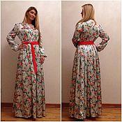 Одежда ручной работы. Ярмарка Мастеров - ручная работа Шелковое цветочное платье. Handmade.