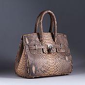 Сумки и аксессуары handmade. Livemaster - original item Women`s mini purse made of Python skin IMP0555L. Handmade.