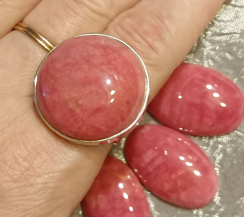 Кольцо с Родонитом в серебре, Кольца, Тихвин,  Фото №1