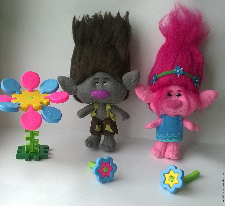 Tsvetan and rose red trolls from the movie Trolls, Stuffed Toys, Vyazma,  Фото №1