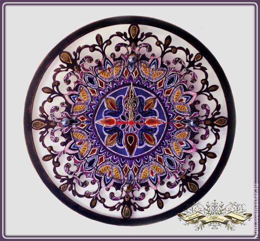 """Часы для дома ручной работы. Ярмарка Мастеров - ручная работа. Купить Часы """"Восточная сказка"""". Handmade. Фиолетовый, часы настенные"""