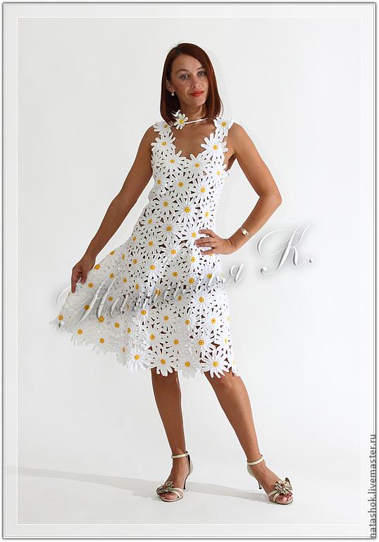 Вечернее платье с ромашками