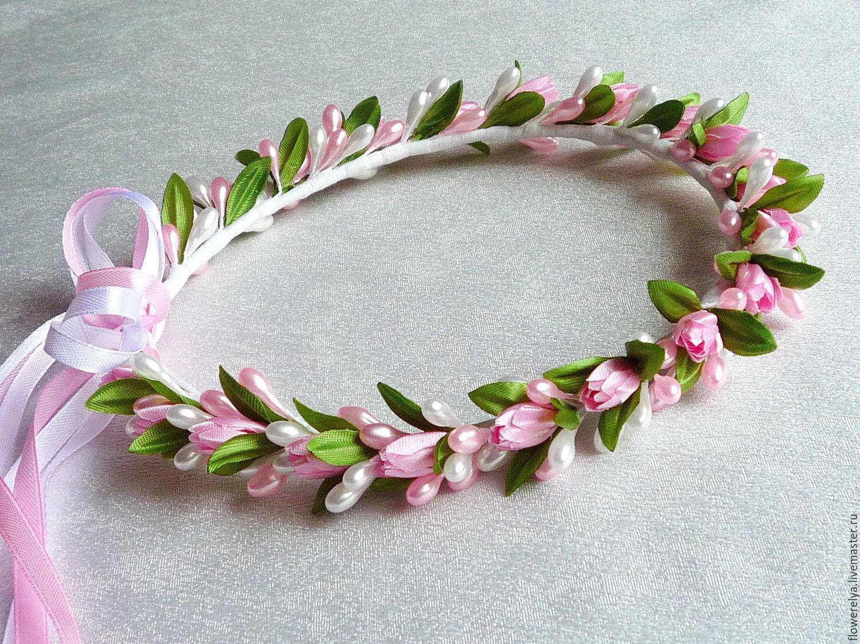 Делать ободки из цветов своими руками