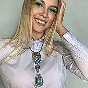 Украшения handmade. Livemaster - original item BOHO-chic necklace with a pendant