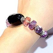 Украшения handmade. Livemaster - original item Bracelet made of natural stones: agate, garnet, ametrine. Handmade.
