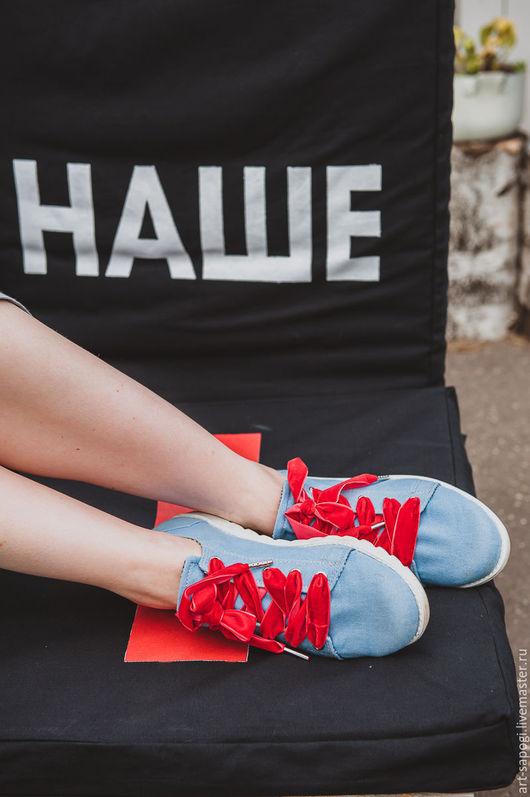 Обувь ручной работы. Ярмарка Мастеров - ручная работа. Купить Кеды 12-322-s36 (СБ). Handmade. Мода, ботинки