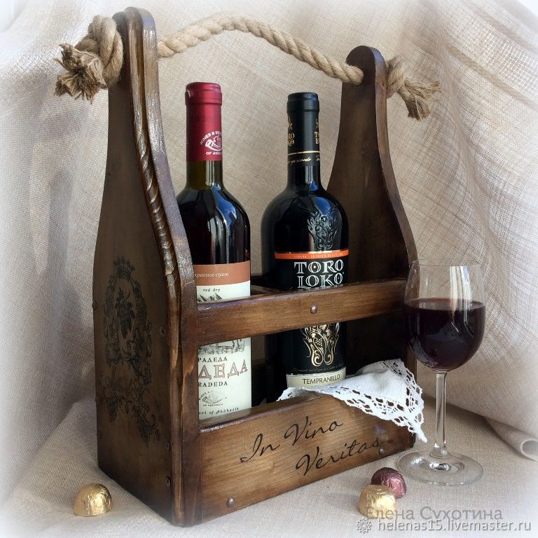 Короб для вина Винный короб Декупаж Мини бар Массив сосны, Короб, Орел,  Фото №1