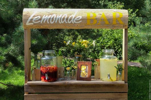 Экстерьер и дача ручной работы. Ярмарка Мастеров - ручная работа. Купить Лимонад бар. Handmade. Комбинированный, праздничный декор